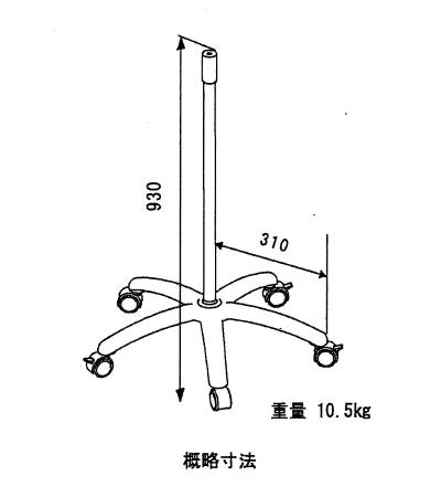 ドクターライトのスタンドの概略寸法