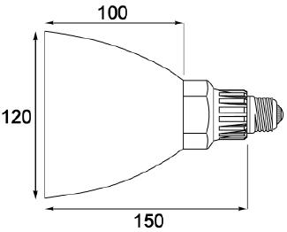 専用リフレクターの寸法図