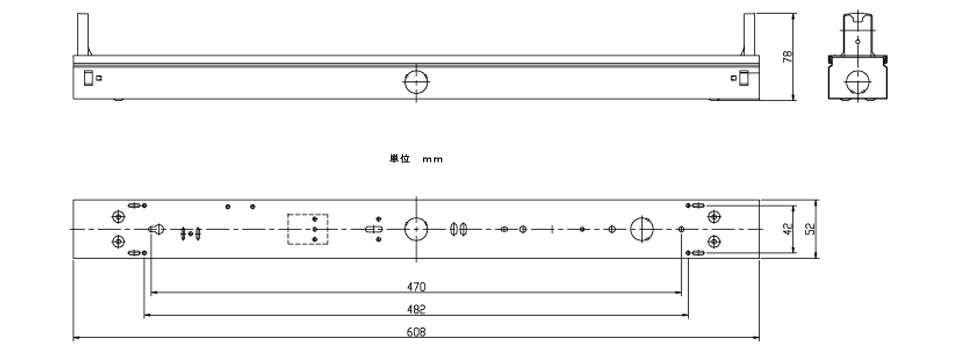 FL20×1灯用の寸法図